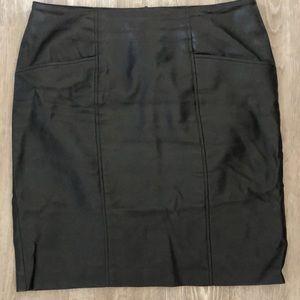 PREMISE STUDIO Black Faux Leather Skirt